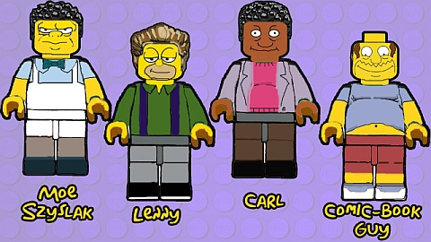 LEGO The Simpsons Characters Concept 2 by B.Parsons