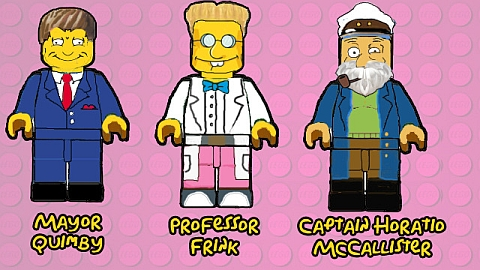 LEGO The Simpsons Characters Concept 3 by B.Parsons