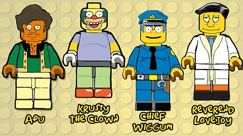 LEGO The Simpsons Characters Concept by B.Parsons