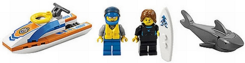 #60011 LEGO City Surfer Details