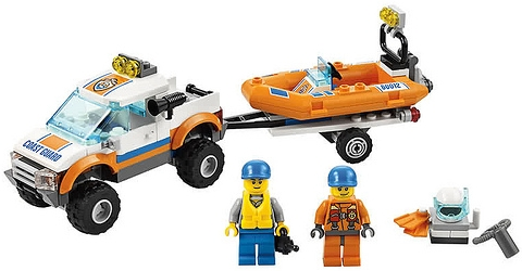 #60012 LEGO City 4x4 and Diving Boat Details