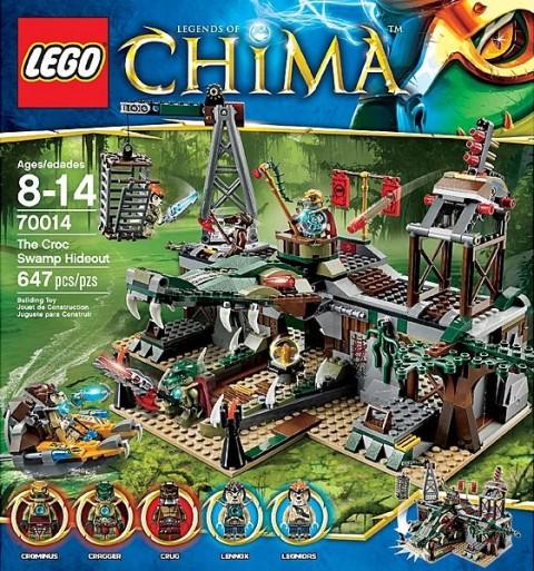 #70014 LEGO Legends of Chima Croc Swamp Hideout Box Image