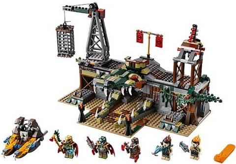#70014 LEGO Legends of Chima Croc Swamp Hideout Details