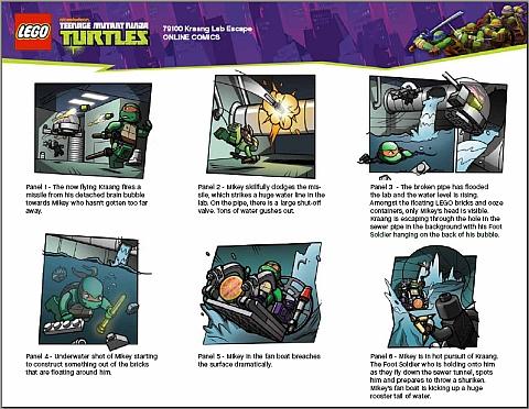 #79100 LEGO Teenage Mutant Ninja Turtles Comics