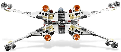 #9493 LEGO Star Wars X-wing Starfighter Back View