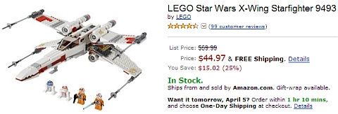 #9493 LEGO Star Wars X-wing Starfighter on Amazon