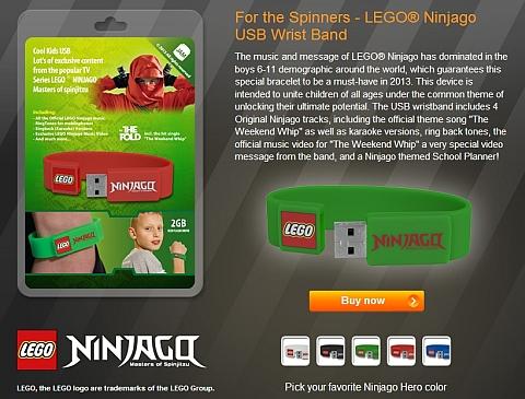 Buy LEGO Ninjago USB Wrisband