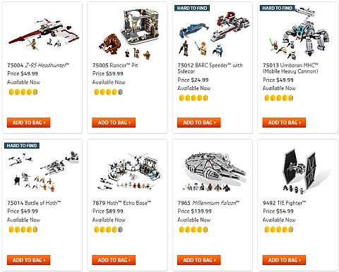 Buy LEGO Star Wars Sets Available Now