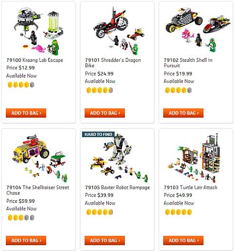 Buy LEGO Teenage Mutant Ninja Turtles Sets