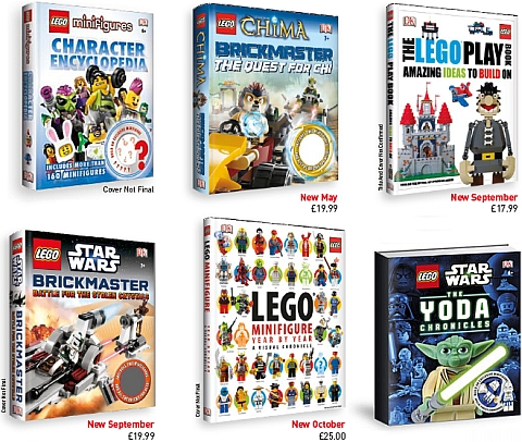 LEGO Books by DK Publishing Coming