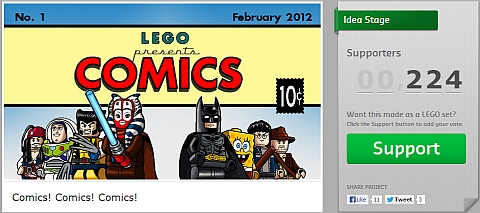 LEGO Comics Project on CUUSOO