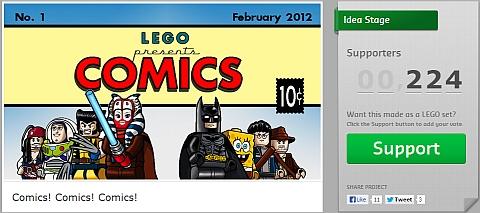 LEGO Comics Project on CUUSOO