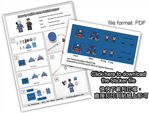 LEGO Iron Man Iron Patriot Decals by Chiukeung