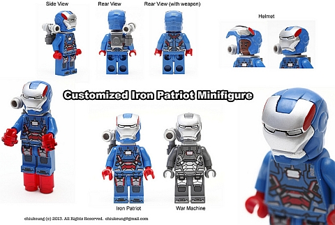LEGO Iron Man Iron Patriot by Chiukeung