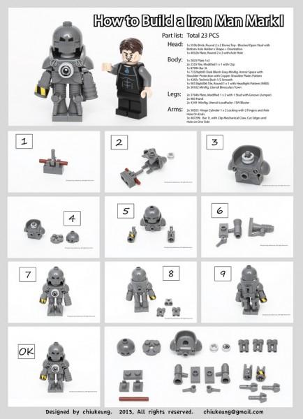 LEGO Iron Man Mark I Instructions by Chiukeung