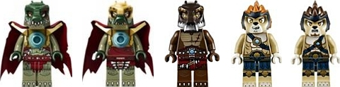 LEGO Legends of Chima Croc Swamp Hideout Minifigs