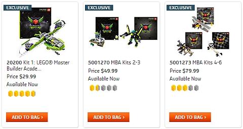 LEGO Master Builder Academy Kits
