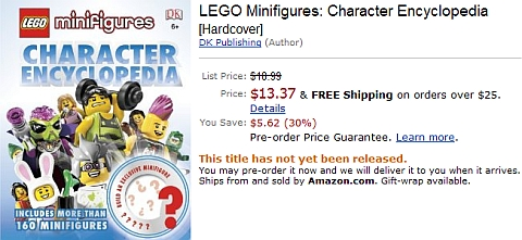 LEGO Minifigures Character Encyclopedia on Amazon