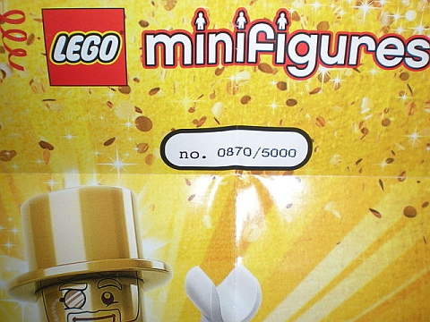 LEGO Mr. Gold Numbered Minifigure
