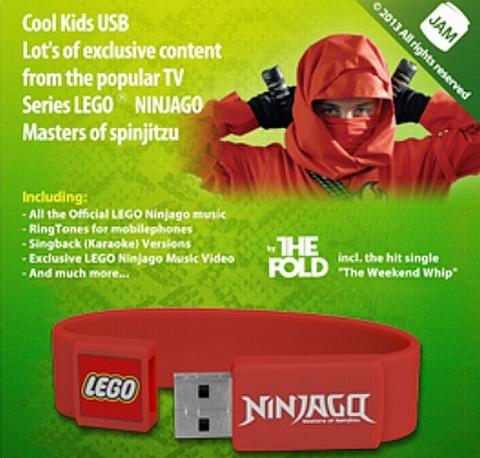 LEGO Ninjago USB Wristband Packaging