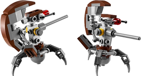 LEGO Star Wars AT-RT Droideka Review