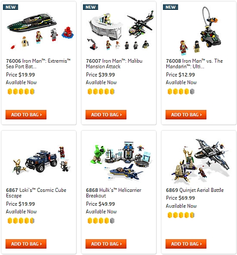 LEGO Super Heroes Sets Available Now