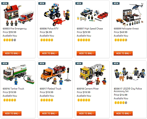 Shop for LEGO City Sets