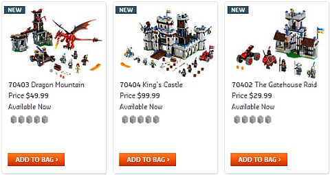2013 LEGO Castle Summer Sets