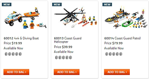 2013 LEGO City Coat Guard Summer Sets
