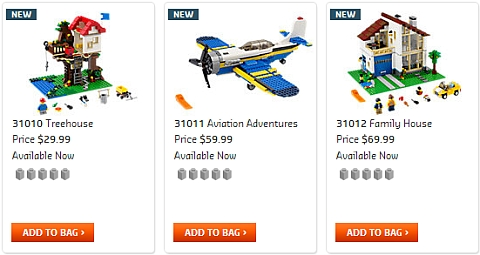 2013 LEGO Creator Summer Sets