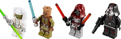 #75025 LEGO Star Wars Jedi Defender-class Cruiser Minifigures