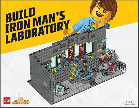 Build LEGO Iron Man's Laboratory