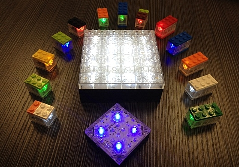 Custom LEGO Light Bricks Colors and Sizes