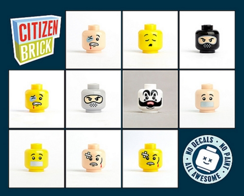 Custom LEGO Printed Heads by Citizenbrick