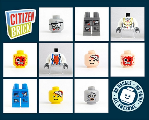 Custom LEGO Zombie Parts by CitizenBrick