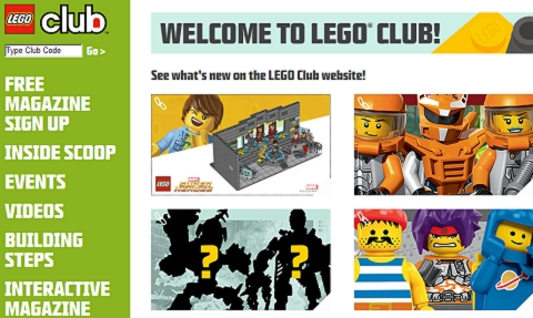 LEGO Club Website