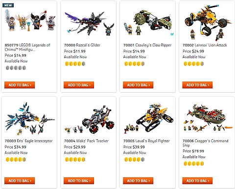LEGO Legends of Chima Sets Available Now