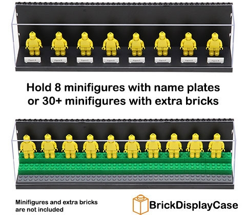 LEGO Minifigure Display Case Black