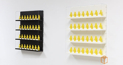 LEGO Minifigure Display Case on Wall