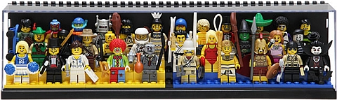 LEGO Minifigure Display Case with More Minifigures