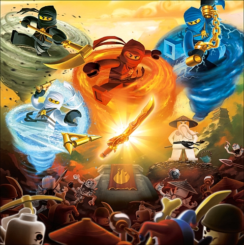 LEGO Ninjago - Four Elements, Four Weapons, Four Ninja