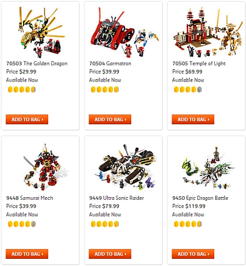 LEGO Ninjago Sets on Sale