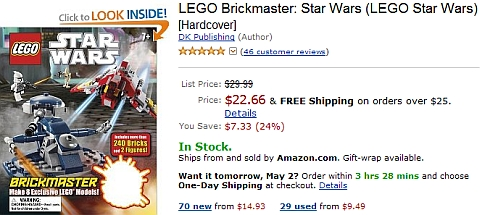LEGO Star Wars BrickMaster Book on Amazon