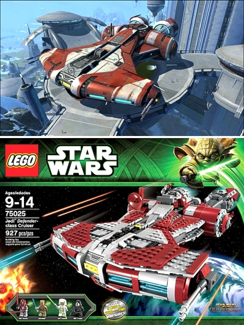 LEGO Star Wars Jedi Defender-class Cruiser Reference Image