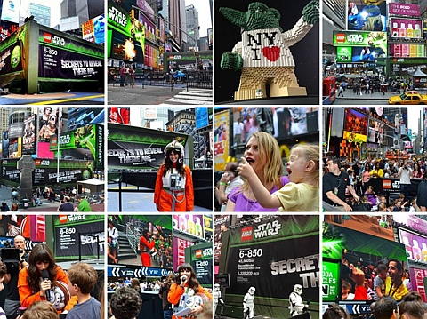 LEGO Star Wars X-wing at New York Time Square Pictures