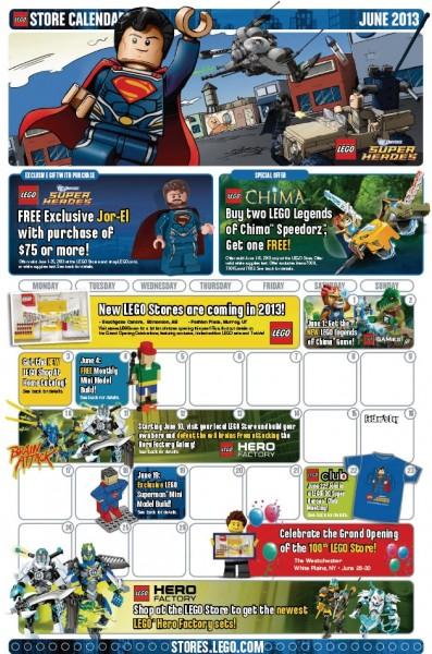 LEGO Store Calendar June