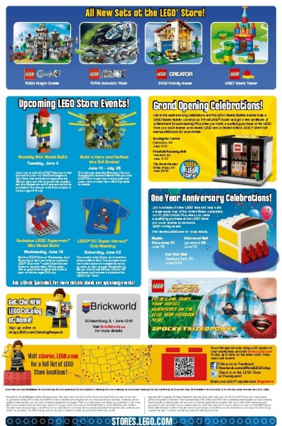 LEGO Store Calendar June Page 2