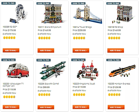 Advanced LEGO Sets Available Now