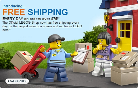 Free Shipping Everyday at LEGO