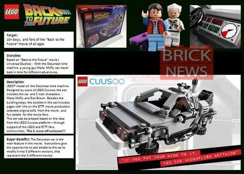 LEGO Back to the Future DeLorean Time Machine Details